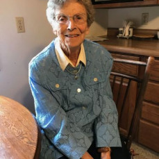 Aunt Pauline waiting to go to church and it was her 93  birthday.  - Alyson Fishel