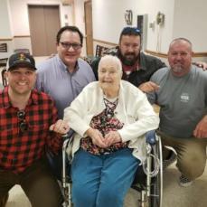 Gram with her grandsons. - Lisa Criscitello