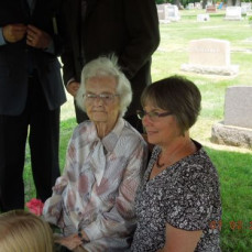 Lucille, (Lonnie's Mother) with another friend who wrote Lucille's Book & memoirs  - Myron H Scharkey