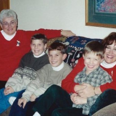 Janet with her loved ones.  - Sarah Lampe