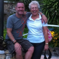 Mom and I in St Croix for their 50th anniversary celebration. - Robert Swafford