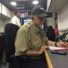 John working at the Gatlinburg wildfires - John Dabbs