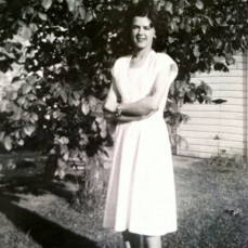 Julia at home on the Galuska farm as a young woman  - Janice Bina-Smith