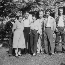 The Galuska Family at home on the farm in Ackley, WI  - Janice Bina-Smith