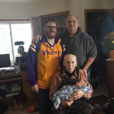 4 generations in one picture. You were an amazing grandfather and taught me so much about being a hard worker and loving person. I hope to pass down your knowledge to my sons.  RIP GPA Nelson  - Matt Nelson