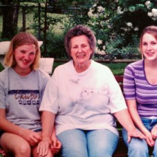 Grandma, my cousin Chelsea (left) and myself (right) when I was about 14.  - Michele