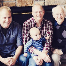 Generations: Dad with son (Mark), grandson (Robert), and great-grandson (Brody) - Mark Frederiksen