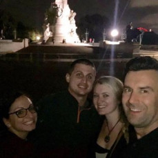 In front of Buckingham Palace with the cousins  - Helen Colaizzo