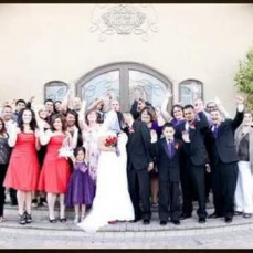 Janet and Ken celebrating my wedding day with me in Las Vegas. Far right of photo - Taijah Amavizca