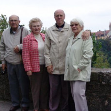 A visit in Germany Rothenburg 2004; Irma, Wayne, Heinz and Irmgard Düngfelder - Ute Grün