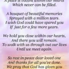 Will never forget you and all the love and kindness you gave each and every day!  💜 Sandra - Sandra Stephens