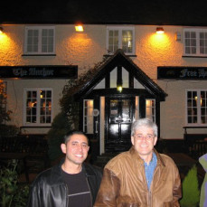 In Leatherhead - during a trip with Mitch to London in 2004 - Faisal Mohmand