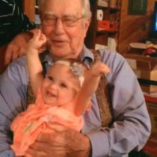 John with great-grandchild Kaylie - Jude Bloom Dodds