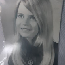 Barbara's High School graduation picture.  1969-1970 - Joy Peck