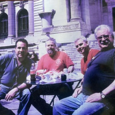 John, Jimmy, Charley & my self enjoying Lunch with the Lyons at the NY Library (May 2004). Is was a challange to pick up lunch, make it to the library, eat and make it back to GCT in 20 mininutes, But on Nice Sunny Days, we did it !!!!!!!! - Tony Proetta
