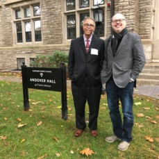 With Hector at Harvard University. - André Gagné