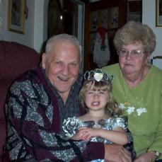 Poppa Mac & Grandma with Great Grand Daughter, Ashley - Nicole Knicker