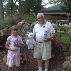 Poppa Mac with Great Grand Daughter, Ashley  - Nicole Knicker
