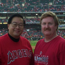 Peter and Me at the 2002 World Series! We had such a great time! - Ed Evans