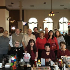 Richard Cinaglia celebrating his December Birthday surrounded by his loving Cousins and Friends December 2019. - Diana Querubin