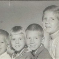 Deb with her 3 younger siblings - she's the Big Sister on the right! - Pat