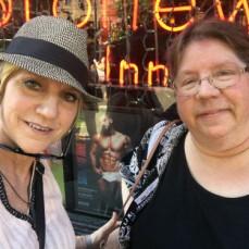 Deb and Pat at the Stonewall Inn, NYC June 2019. - Pat