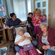 Diane, Maxine, & Karen visited with Titi Carmen on July 25th, 2021. - Karen Diaz