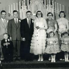 Ellen & Delmar's wedding at St Paul's Lutheran Church in Hampton.  My brother Darwin Schmitt  was ring bearer. - Daryl Burbank-Schmitt