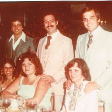 Pat & Angie with Ralph, Pat, Carlo and his wife at Mt. Airy Lodge 1978. - Ralph Marano