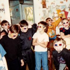 Halloween Birthday party 1990. Dan, Jake Gray Joe (in white t-shirt) Josh - Holly Plowman