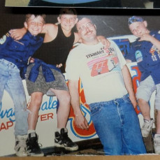 Me, Joe, Dan cub scout night at West Liberty raceway I belive.  Early 90s. Will always love and miss you both. See you on the other side my brothers. - Josh Hazen