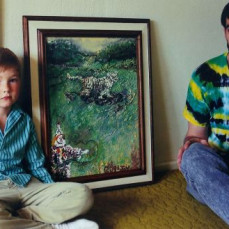 Jay and his son, Guy would sometimes paint pictures together.  Jay had a wonderful talent and eye for art, American Indian artifacts and antiques. - Jeff Morgan