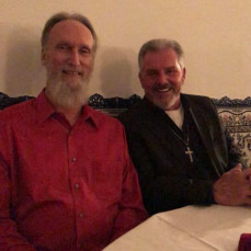Henry & Smitty at the Lucas Brothers Christmas Party  - Harry and Judy Smith