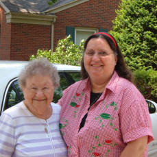 Janie and Aunt Beth at Syracuse, IN, 2008Loved our lunch visits! - Jane Goodrich